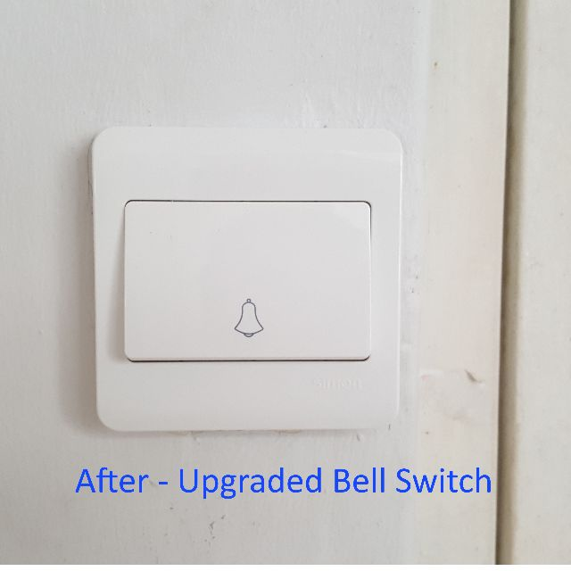 Upgrading of HDB Door Bell Switch to Condominium Style ... on