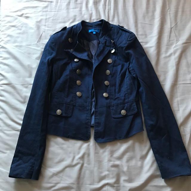 Valleygirl Navy Blue Jacket