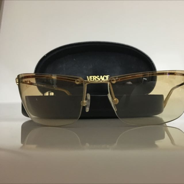 VERSACE Vintage Sunglasses And Case