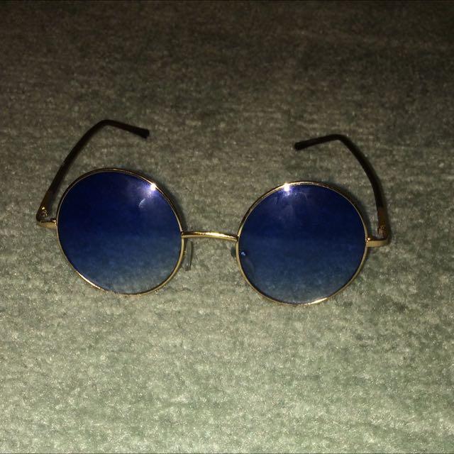 Vintage Blue Sunglasses