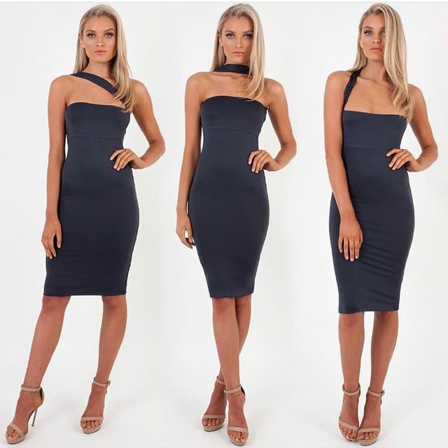 Zachary Desert Midi Dress In Navy