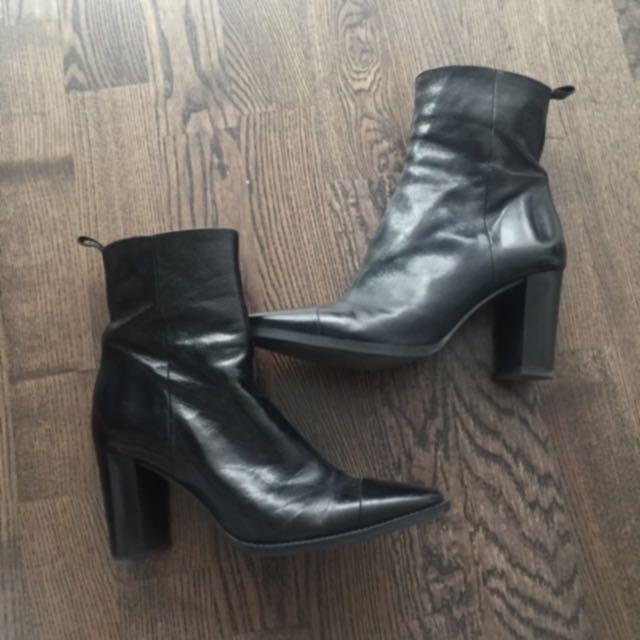 Zara Genuine Leather Boots