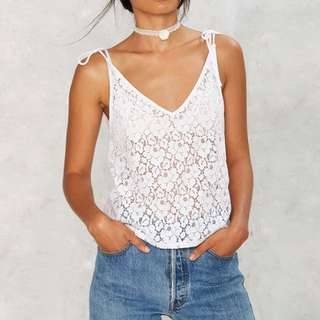 BN Lace Tie-up Top