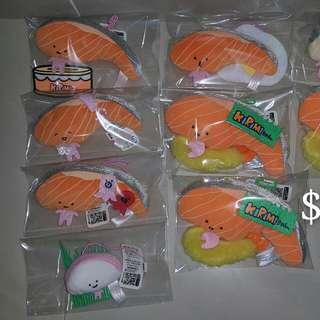 三文魚 魚生 公仔 吊飾