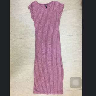 Cotton On Knitted Long Dress W/ Slit