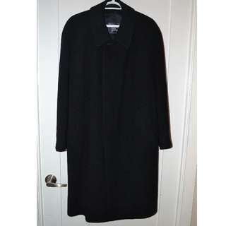 Burberry Navy Blue Men Coat - Large -