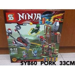 2017 New ! Ninja Lego Compatible SY860 434PCS Ninjago Ninja Red Snake Stone Crawler Building