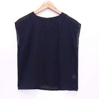 Tee Top Sexy / Baju Atasan Navy Sifon Brand