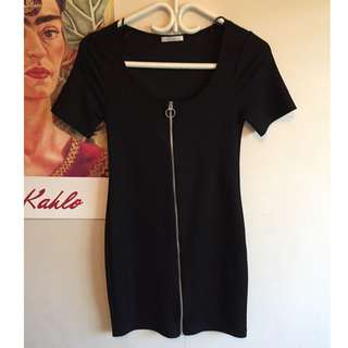 Zara Black Zip Up Dress