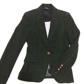 Zara Olive Green Blazer XS