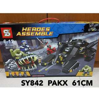 2017 NEW SY842 Spiderman The Battle Of Batman and Crocodiles Super Heroes Assemble Lego Compatible