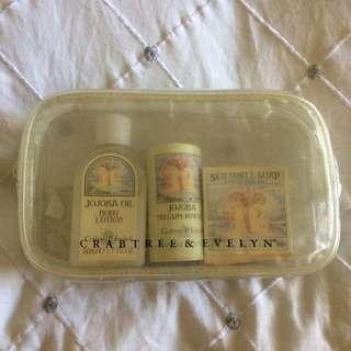 Crabtree & Evelyn Jojoba Mini Travel Kit.