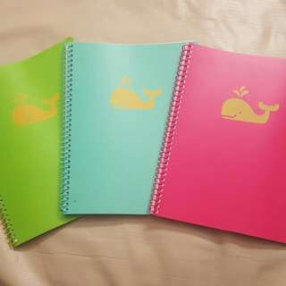 🐳CUTE WHALE SPIRAL NOTEBOOKS