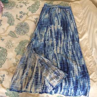 Tue Dye Maxi Skirt