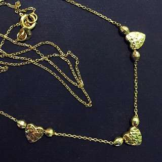 3 hearts japan gold Necklace