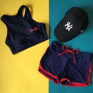 Croptop-Sando Swimwear W/ Short