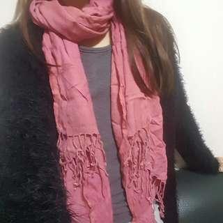 粉紅色頸巾pink Scarf