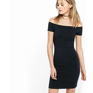 Express Off The Shoulder LBD