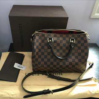 Authentic Like New Louis Vuitton Speedy 30 Damie Bag