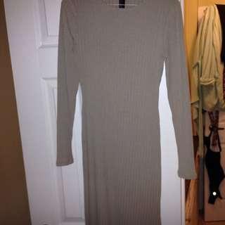 Sweater Dress With Slit