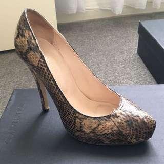 Witchery Snakeskin Look Leather Stilettos