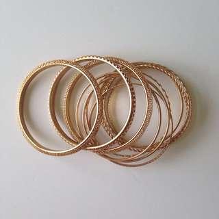 Gold Stackable Bracelets