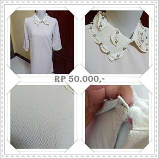 EX OLSHOP Flower Collar Dress