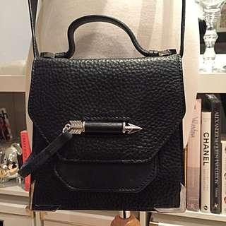 Mackage Rubie Black Leather Crossbody Bag