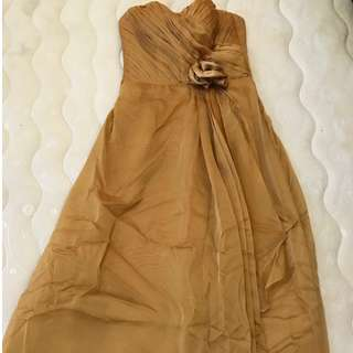 Long GOLD Party dress