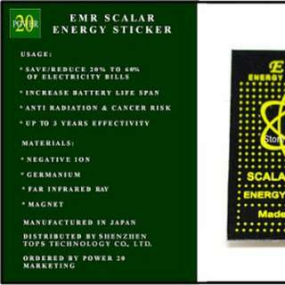 Scalar Energy Saver Sticker