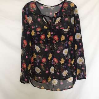 Zara Flower Blouse