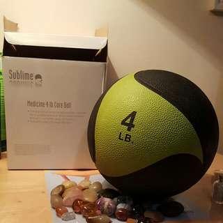 NEW 4lb Sublime Medicine Ball