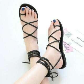 Sandal Flat Tali Wanita ( Still New Condition)