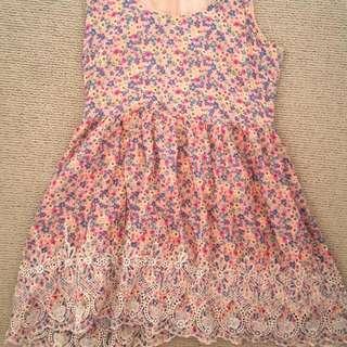 Pink Floral Dress Size 12
