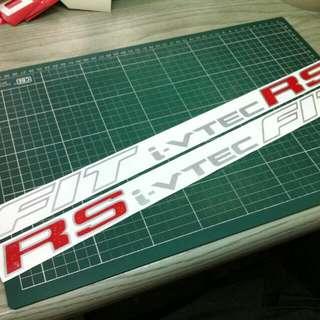 fit i-vtec rs side door sticker