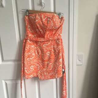 Sheike Orange Paisley Patterned Jumpsuit