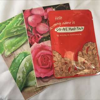 Nature Republic And Syn-ake Face Masks