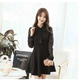 [全新] 日韓服飾 - 新款修身甜美時尚雪紡拼接連身裙