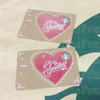 Starbucks You're the Sweetest Red Heart Diecut