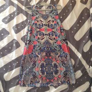 Patterned Loose Dress
