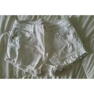Supre White Denim shorts