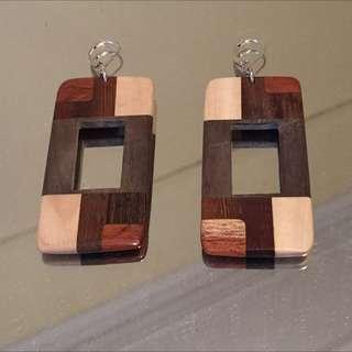 Handmade Wooden Earrings
