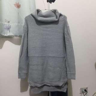 包郵🎈灰色高領針織毛衣