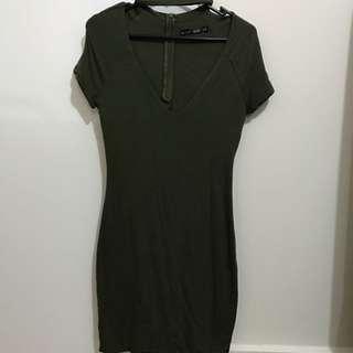Tight Fitting Green Dress