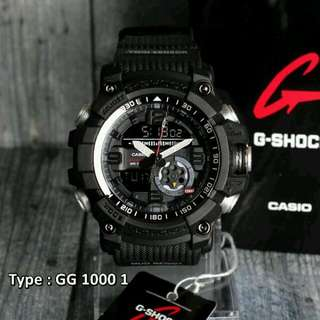 JAM TANGAN PRIA SPORTY CASIO G-SHOCK GG 1000 FULL BLACK