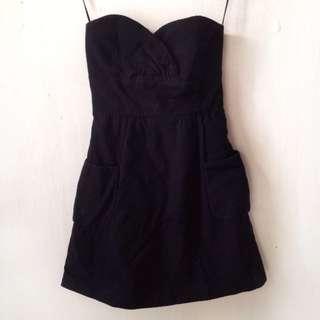 Mango Black Tube Dress