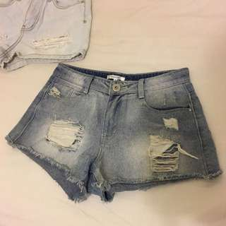 Two Pairs of Jean Shorts, Size 8