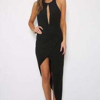 Peppermayo Black Halter Dress