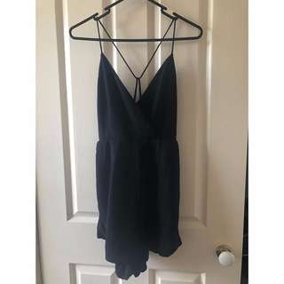 Backless Black Playsuit