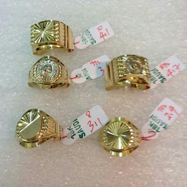18k Saudi Gold Men's Ring 100%genuine Pawnable/nasasangla Resellers Are Welcome